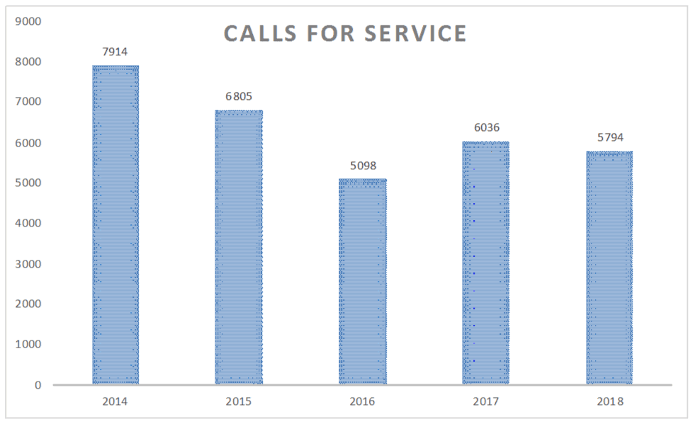 Calls For Service 5 Year
