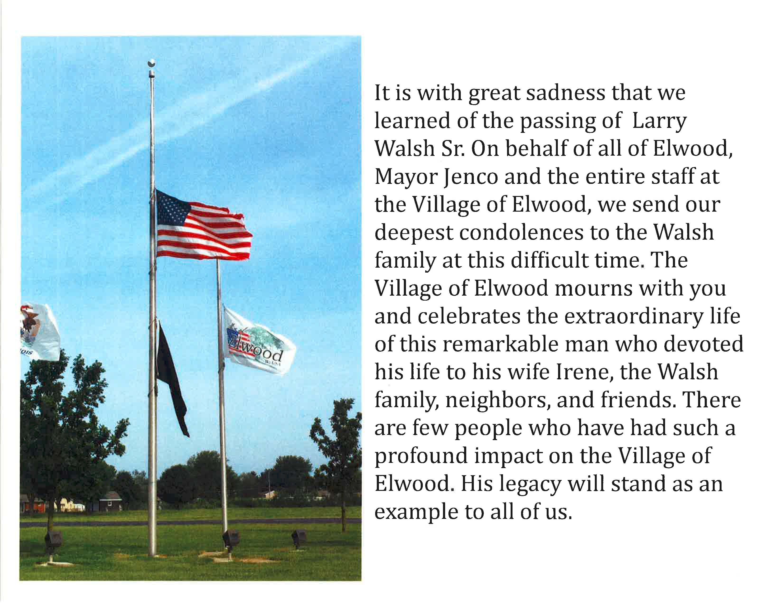 In Memory of Larry Walsh Sr.